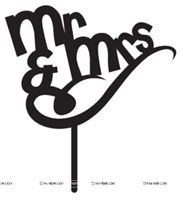 Mr Slanting Cake Topper