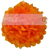Orange Paper Pom Pom - Butterfly Birthday