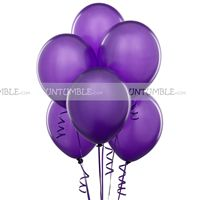 Purple Latex Balloons (Pack of 20)