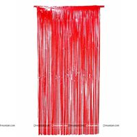 Red 3x6 foil curtains (set of 2)