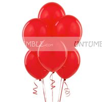 Christmas theme Red Latex Balloons (Pack of 10)