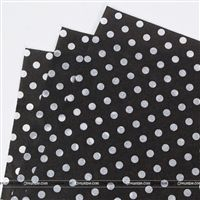 Tissue Paper - Black Polka  (Pack of 20)