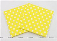 Tissue Paper - Yellow Polka  (Pack of 20)