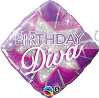 Fashionista theme Birthday Diva Foil Balloon