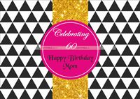 60th Birthday theme Disco Backdrop Banner