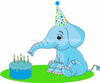 Baby Elephant theme Elephant with cake
