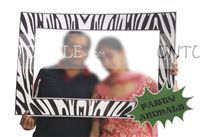 Baby Jungle theme Zebra striped photo booth