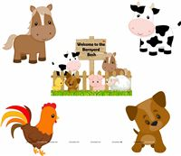 Baby Barnyard theme Posters pack of 5