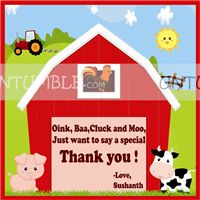 Thank you card - Baby Barnyard