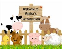 Welcome Cutout - Baby Barnyard