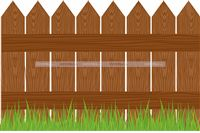 Baby Barnyard theme Wooden Fence Cutout