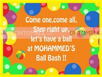 Ball theme Welcome Poster