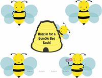 Bumble Bee theme Posters pack of 5