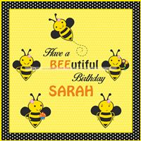Pretty Bumble Bee Backdrop - Bumble Bee