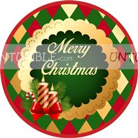 Christmas theme Christmas Candle favour tags