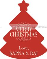 Christmas theme Christmas favour tags