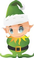 Christmas theme Green Elf Cutout