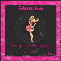 Fashionista theme Fashionista Thank you Cards