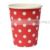 Christmas theme Red & white polka paper cups