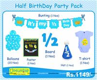 Cake Smash theme Blue Half Birthday party kit