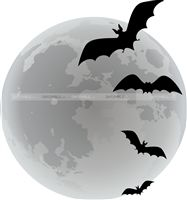 Halloween theme Bats in the night poster