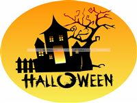Halloween theme Haunted House Cutout