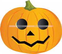 Halloween theme Pumpkin Cutout
