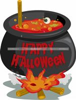 Halloween theme Witch cauldron poster
