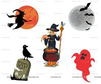 Halloween theme Halloween Theme Poster Pack of 5