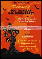 Halloween theme Party invite
