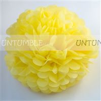 Yellow Paper Pom poms - Butterfly Birthday