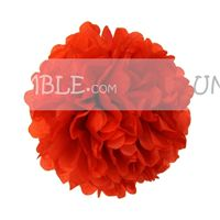 Red Paper Pom poms - Butterfly Birthday