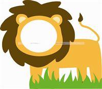 Jungle theme Lion face photo booth for kids