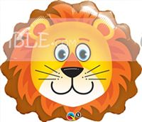Jungle theme Cute Lion Face Foil Balloon