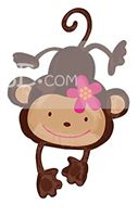 Jungle theme Cute Monkey Foil Balloon