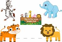 Jungle theme Posters pack of 5