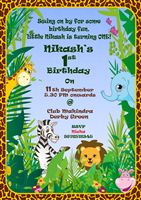 Jungle theme Rectangular Invitations