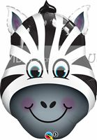 Jungle theme Zebra Face Foil Balloon