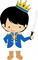 Little Prince theme Cute Prince with sword