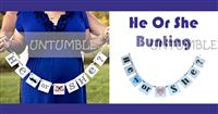 He or She Bunting - Maternity Props