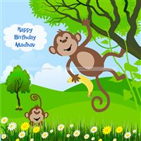 Monkey theme Monkey on a tree Backdrop
