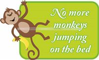 Monkeys jumping on the bed - Nursery Rhymes