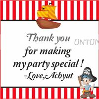 Little Pirate Thank you cards - Pirate birthday