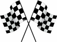 Race Car theme Chequered Flag cutout