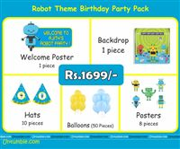 Robot Party Supplies theme Robot Theme Mini Party Pack