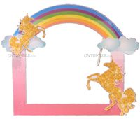 Unicorn theme Photobooth with rainbow and 2 unicorns