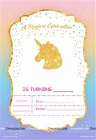 Unicorn Theme Invite