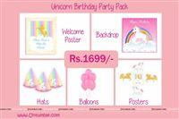 Unicorn Theme Mini Party Pack