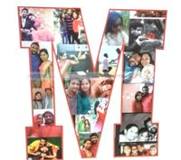 Letter Shaped photo collage - Love