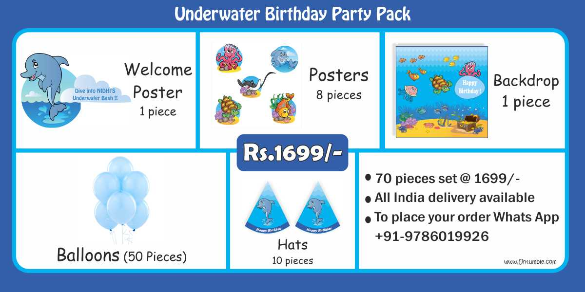 Underwater Theme Birthday Party Decoration/Supplies party kits